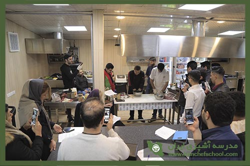 آموزش پخت کباب در مدرسه آشپزی ایران